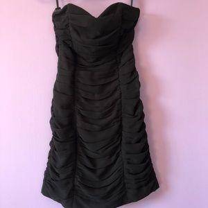 H&M black strapless dress - 4